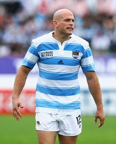 Felipe Contepomi Photos Photos - Felipe Contepomi of Argentina looks on during the IRB 2011 Rugby World Cup Pool B match between Argentina and Georgia at Arena Manawatu on October 2, 2011 in Palmerston North, New Zealand. - Argentina v Georgia - IRB RWC 2011 Match 37 Argentina Rugby, Shaved Heads, Rugby Men, All Blacks, Rugby World Cup, October 2, Rugby Players, Hot Hunks, Sexy Men