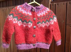 Icelandic sweater baby sweater baby cardigan for 6-12 от Klettur