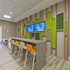 Nordik Moss Wall Art can be used to create superb interior design features as seen in this Break-out Area for a Glasgow Healthcare Company Commercial Design, Healthcare Design, Interior, Office Feature Wall, Commercial Interiors, Green Wall Design, Office Interior Design, Interior Design, Wall Design