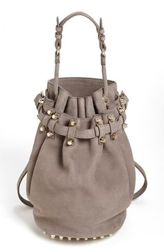Alexander Wang 'Diego Dumbo Slick - Pale Gold' Leather Bucket Bag, Medium available at #Nordstrom