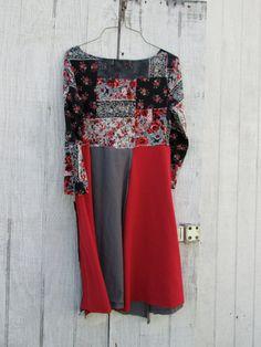 xsmall  medium  / Upcycled clothing / Funky Tshirt Dress /