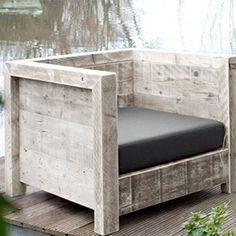 silla de madera reciclada, hecha a medida. www.almacen5.es