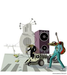 (illustration) Music parade by animabase on Flickr.(illustration) Music parade