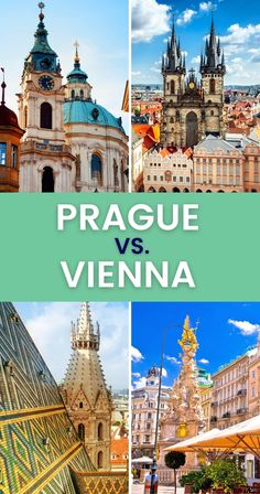 Can't decide between Prague and Vienna for your next cultural endeavor? This comparison of Prague vs Vienna will help you pick the best destination for you. | Prague or Vienna | Vienna vs Prague | Vienna or Prague | Travel Guide | Things to Do in Prague | Things to Do in Vienna | #prague # vienna #europe #praguevsvienna Prague Travel Guide, Europe Travel Guide, Europe Destinations, Spain Travel, Amazing Destinations, Travel Guides, European Travel Tips, Italy Travel Tips, Europe On A Budget