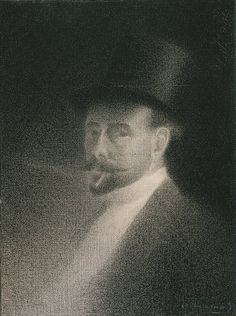 Charles Angrand (French, 1854–1926). Self–Portrait, 1892. The Metropolitan Museum of Art, New York. Robert Lehman Collection, 1975 (1975.1.566) | Charles Angrand was a visible presence in the Parisian avant-garde in the late 1880s and early 1890s. Here he presents himself, not at all as an artist, but as a bourgeois dandy, impeccably dressed and smoking a small cigar. #paris