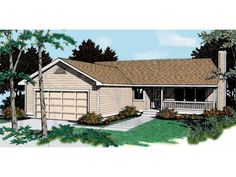 Eplans Country House Plan - Economical Rancher - 1314 Square Feet and 3 Bedrooms from Eplans - House Plan Code HWEPL07486