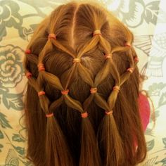 Fishnet Hairstyle for Little Girls