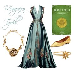 Margaery Tyrell by tamsinhartnell on Polyvore featuring polyvore, fashion, style, Rachel Roy, Oscar de la Renta, STONE and clothing