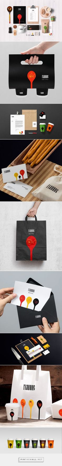 Naming, branding and packaging design for Glavnoe via Maeutica curated by Packaging Diva PD. A chain of fast-food restaurants in Russia, emphasizing the traditions of Russian national cuisine.
