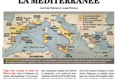 Historia / Les fiefs catalans / Catalonia's sphere of influence, map created by Hugues Piolet for Historia Magazine