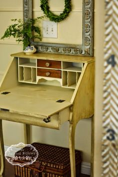 I bought an antique writing desk awhile back, it was part of a furniture lot that I bought. I got the desk, a dresser, and a bed! A friend...