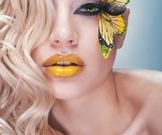 yellow lipstick. that's different.