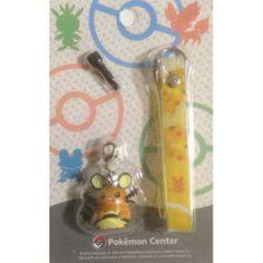 Pokemon Center 2014 Dedenne Mobile Phone Earphone Jack Accessory Charm Strap