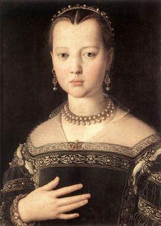 Portrait Of Maria de Medici, by Agnolo Bronzino