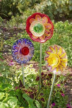 DIY Glass Garden Flowers                                                                                                                                                                                 More
