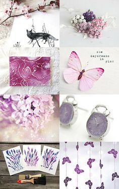 from pink to purple, for the floral season:) by aquariusdan on Etsy--Pinned with TreasuryPin.com