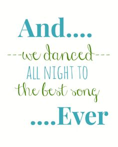 One Direction Best Song Ever  8x10 Lyric art print by gbloomstudio, $15.00