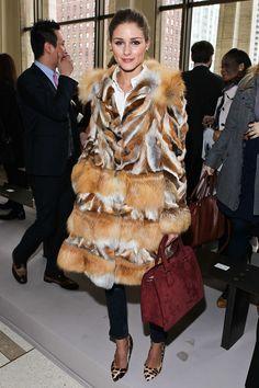 Olivia Palermo / fur coat