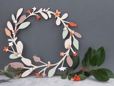 Anna Wiscombe — Wooden Christmas Wreath - Large