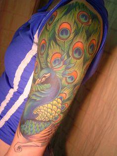 Peacock Sleeve Tattoo