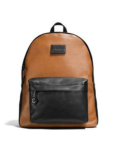 COACH CoachCampus Backpack. #coach #bags #leather #backpacks #