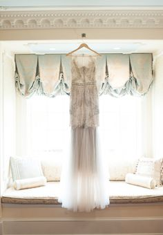 beaded wedding gown - photo by Off BEET Productions http://ruffledblog.com/bright-purple-and-pink-wedding-in-new-jersey
