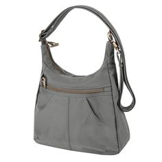 Travelon Anti-Theft Signature Top Zip Shoulder Bag -- See this great product.