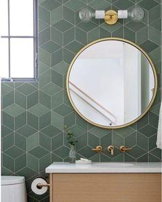 Powder room goals. Repost/Design by @hazelandbrowndesign | Photo by @pineconecamp