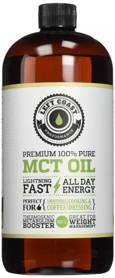 Viva Labs Coconut MCT Oil - 100% Capric and Caprylic Acid, Non-GMO, Naturally Extracted and Sustainably Sourced, 32 fl oz