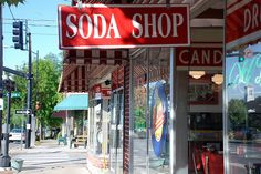 """Rocky's and D.D. Bullwinkel's in Brevard, NC. It is not really """"The Soda Shop,"""" but that is what I call it."""