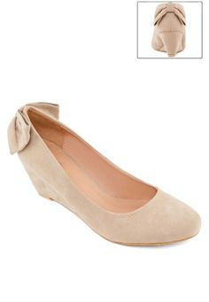 3d88f6bf103 Kitten Wedge Pump With Back Bow by EZRA (ZALORA.CO.ID)