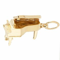 Grand Piano, Sterling Silver Charm.  (Top Opens)   See More Charms:      http://www.charmnjewelry.com/gold-charms.htm #MusicCharm