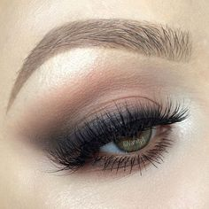 """""""So my inspiration for this smoked-out wing was actually the @lordandberry Liner in Dark Black that came in my @boxycharm set this month. It's a super soft…"""""""