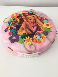 rapunzel taart Bolo Rapunzel, Rapunzel Birthday Cake, Tangled Birthday Party, Mermaid Birthday Cakes, Disney Birthday, Princess Birthday, Frozen Disney, Edible Photo Cake, Image Birthday Cake