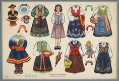 77.4201: Norske Bunader (Norwegian National Costumes) | paper doll | Paper Dolls | Dolls | National Museum of Play Online Collections | The Strong