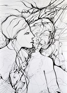 "Saatchi Online Artist: Boicu Marinela; Pen and Ink, 2013, Drawing ""inkling"""
