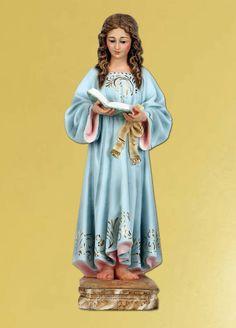 VIRGEN NIÑA - Virgen María - Estatuaria Religiosa - Artículos religiosos - Silos - La Tienda de la Abadía
