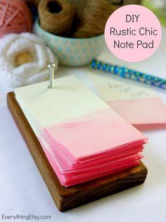 DIY Rustic Chic Note Pad - EverythingEtsy.com