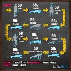 Entraînement au poids du corps du 29/01 : squats, jumping jacks, pompes, burpees et plus ! http://www.litobox.com/wod-29-01-2014