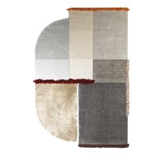 In a striking juxtaposition of textures, this asymmetrical rug is a stunning floor decoration that combines neutral, gray hues with accents in vibrant red and orange. This exquisite piece is part of the Selce Collection by Studio Solaris and made entirely by hand using Tencel, linen, felted wool, and New Zealand virgin wool. Enticing to the touch, this piece mixes the bouclè, velvet, relief, and shaggy surfaces and can be made to order in different sizesupon request: 170 x 240 cm/66,63 x 9 Wool Felt, Felted Wool, White Gloves, Shaggy, Rugs On Carpet, Neutral, Weaving, Vibrant, Velvet