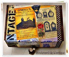 Boulevard de L'antique: Vintage Classifieds memory Box