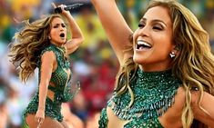 Jennifer Lopez kicked off the FIFA World Cup 2014 in style on Thursday, as she performed at the Opening Ceremony. The 44-year-old singer showed off her incredible figure in a sparkling leotard she sang the official FIFA song We Are One (Ole Ola) alongside rapper Pitbull and singer Claudia Leitte.