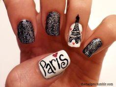 sparkly paris nails