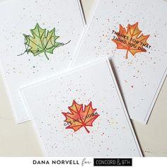 Concord And 9th, Leaf Cards, White Leaf, Baby Boy Or Girl, Breakfast For Kids, Design Elements, Cardmaking, Different Colors, Woodland