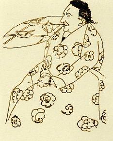 Gertrude Stein, sketch by Djuna Barnes
