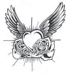 heart tattoo designs for women - Google Search