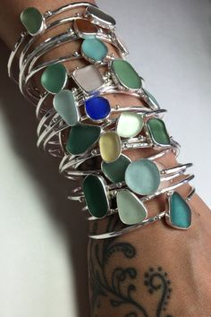 Hey, I found this really awesome Etsy listing at https://www.etsy.com/listing/232371868/sea-glass-cuff-bracelets-adjustable