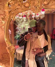 Alton Mason and Anok Yai Cute Black Couples, Black Couples Goals, Cute Couples Goals, Art Black Love, Black Is Beautiful, Beautiful Couple, Black Girl Aesthetic, Couple Aesthetic, Black Girl Magic