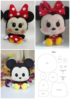 - Felt Crafts Patterns - Easy Crafts For Kids To Make Not Messy - - Cool Arts And Crafts For Kids Videos Felt Doll Patterns, Felt Animal Patterns, Felt Crafts Patterns, Plushie Patterns, Felt Crafts Diy, Stuffed Animal Patterns, Pdf Patterns, Mouse Crafts, Felt Templates