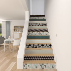 Stair stickers ornate vinyl tile decals for stair risers - Papier peint escalier ...